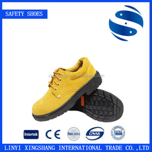 Comfortable and Sweat Absorption black Genuine Leather safety shoe for restaurants