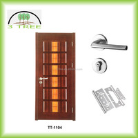 6 raised panel swing opening bread composite wood door