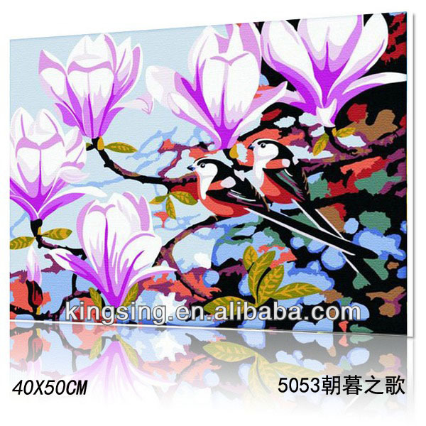hotsale Diy oil painting by numbers of morning
