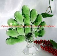 Handicrafts green crystal peacock figurine MH-D0209