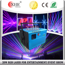 High Power 20W RGB Outdoor building Wedding Big Laser Light Show,Large Event Laser Lighting