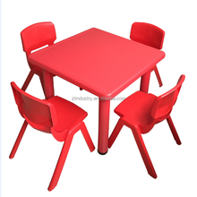 Child care center colorful eco-friendly PP plastic dining table and chair