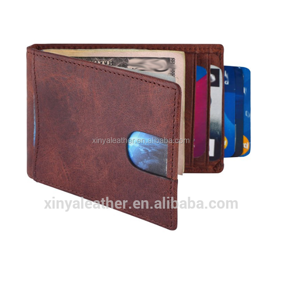 RFID Blocking Minimalist fake Leather Slim Front Pocket <strong>Wallet</strong>