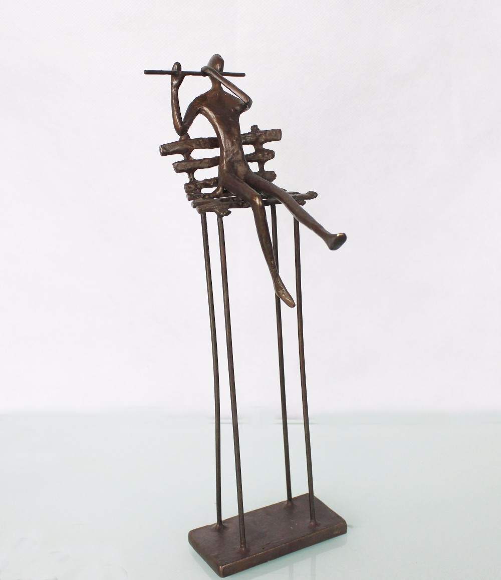 Home decor matel art and crafts bronze abstract sculpture