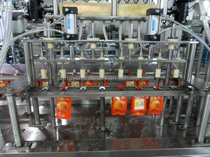 4 heads pouch filling capping machine