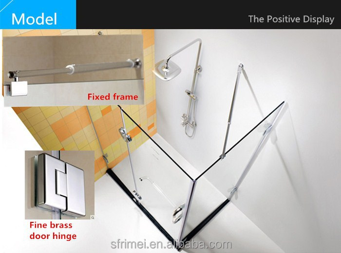 Rectangle Portable Glass Enclosed Standard Size Shower Room