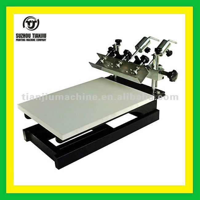 Tabletop 1 color screen printing machine with micro registration