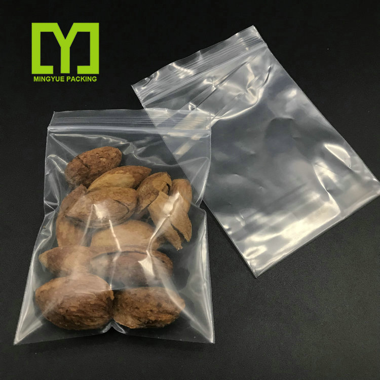 Best Sale Eco Friendly Custom Size Clear Snacks Packing PE Plastic Transparent Zipper Bag