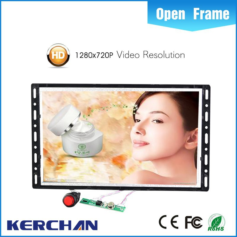 Hot sale!!!!!10.1 inch open frame supermarket trolley tft wide screen advertising display tv lcd with plastic push button