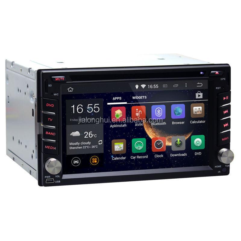 All-in-one CAR RADIO 2 DIN Pure android 4.4 GPS with Capacitive screen 1.6G CPU Dual Core 1G RAM Radio