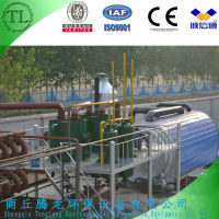 Waste plastics pyrolysis oil plant with automatic safety device