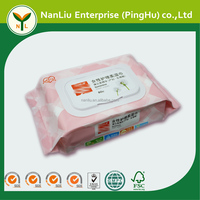 Feminine soft wet wipes for private location 80P with plastic lid(Professional baby wet wipes OEM/ODM)