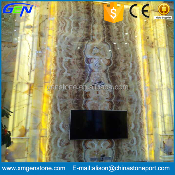 Popular Wall Setting Natural Cream Onyx Marble Plate
