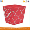 New design non-woven fabrics foldable storage bins with handle