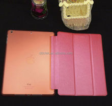 Popular orange PC PU leather cover for ipad case for apple ipad air