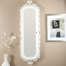 Wall Mount Jewelry Armoire the dual benefits of a jewelry cabinet and a mirror in one place