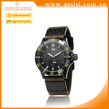 Casual Military Sports Watch Men Leather Band Wrist Watch Male Top Brand Oem accepted