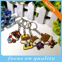 cheap pvc custom printed keyrings for souvenirs