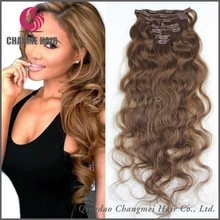 Private Label Superior Quality Clip In Highlight Curly Human Hair Extensions
