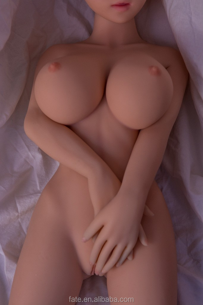 100cm New lifelike full medical real solid silicone mini sex Love doll with skeleton,artificial vagina big breast sex doll