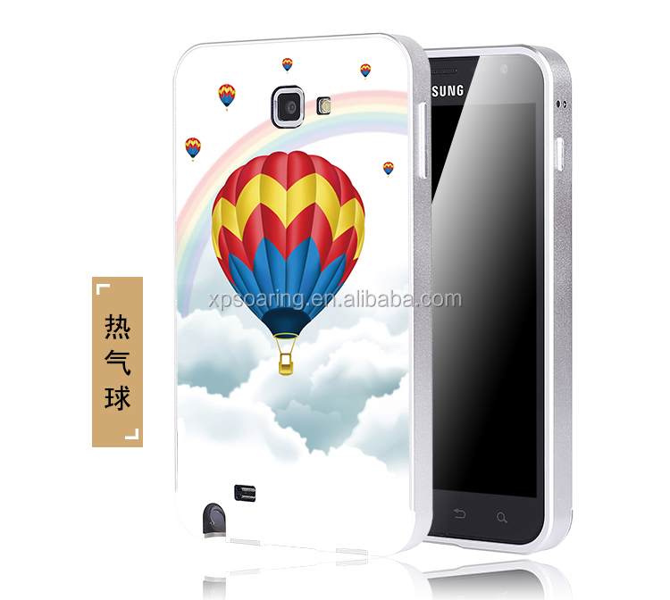 relief embossment metal frame +PC material cellphone for Samsung galaxy I9220 N7000 case