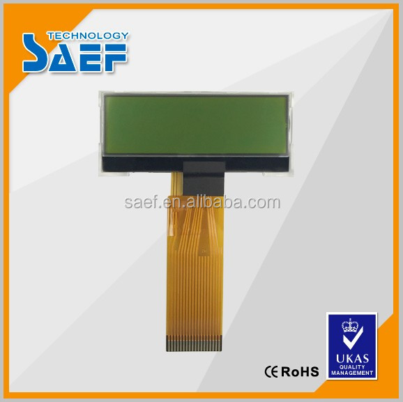 STN Module Screen monochrome lcd display 122X32 Character , Y-G, Transflective Graphic lcd display module