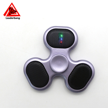 Hot sell GEN2 led lgiht mini bluetooth portable spinner speaker with usb port
