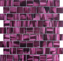 Chinese factory purple crystal mosaic decorative 3d wall panels 8CFC605