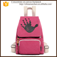 korean fashion travelling red hand bags cute fancy canvas backpack school shoulder laptop computer bags