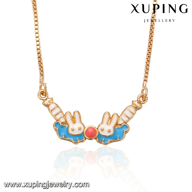 41758 xuping shopping online trendy 18k gold plated accessories for women jewelry lovely animal pendant necklace