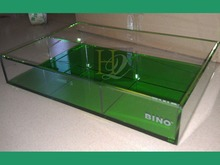 Square colorful acrylic serving tray, acrylic amenity tray, Lucite collection boxes