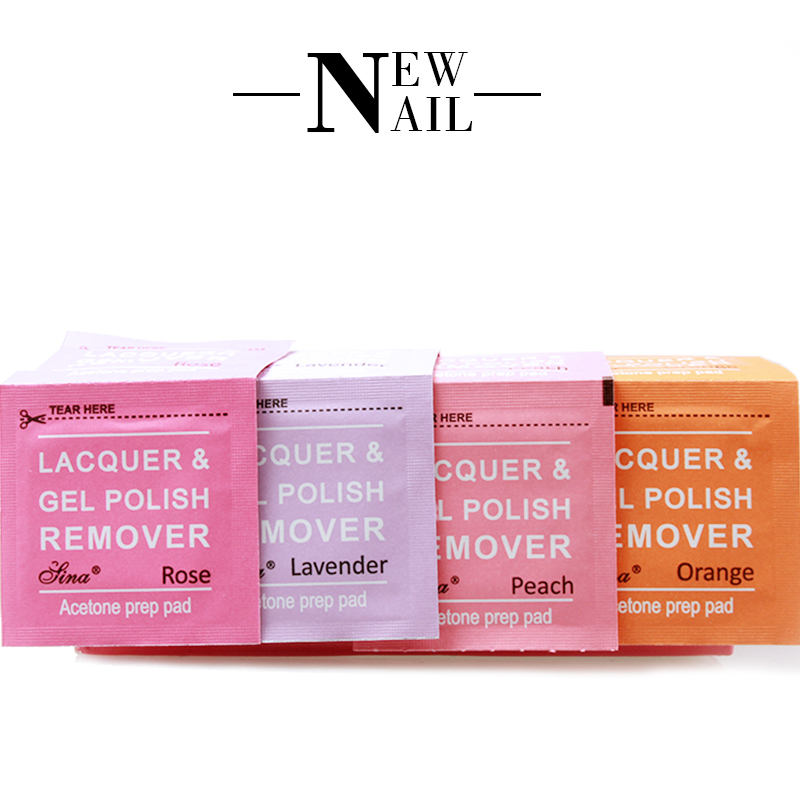 Nail Art Soak Off nail cleanser wet wipes pad nail polish remover wraps