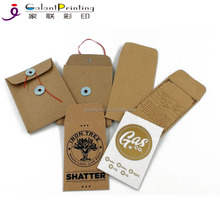Customized Original Black Gold Shatter Wax Extract Coin Foil Textured Envelopes