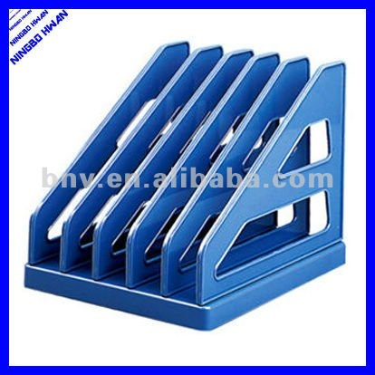 triangle shape a4 size 5 compartments tray plastic office document tray