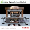 Retail coffee kiosk multi-function sushi bar kiosk design waffle kiosk for sale