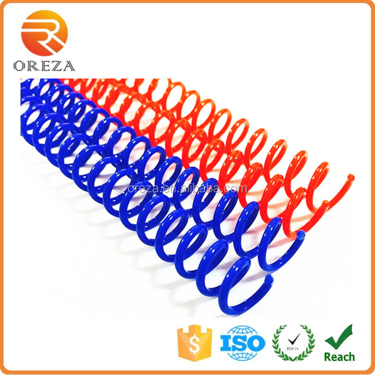 Color PVC Plastic Spiral Wire Binding Coil