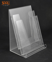 3 Tiers Clear Acrylic Brochure Holder