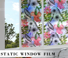 home DIY flower colorful decorative privacy window film
