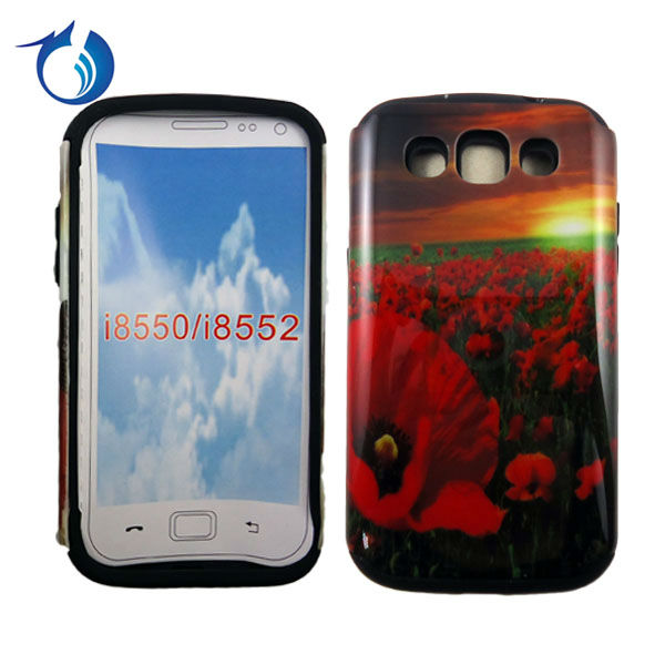 Red flower design case For samsung galaxy win i8552 cheap mobile phone cases