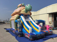 Turtle Combo Slide Wholesale Inflatable Bouncers Rentals Inflatables
