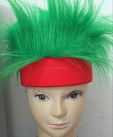 green crazy hair with red headband crazy hair
