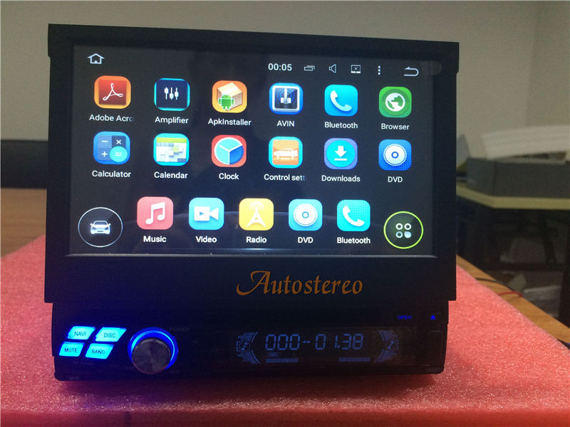Universal Android Quad core Single DIN Car GPS System headunit Car DVD ONE DIN car navigation headunit