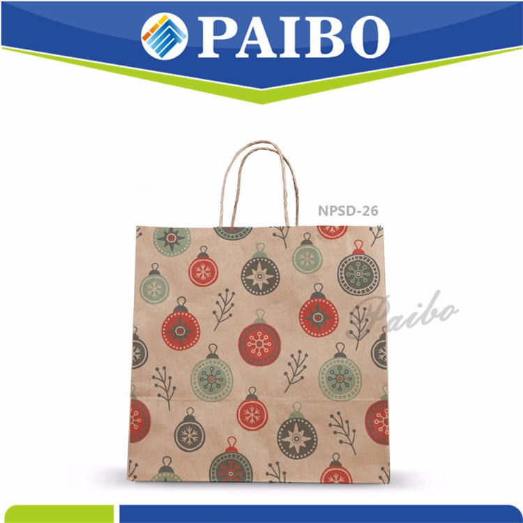 NPSD-26 Christmas Paper Bag with handle Professional manufacturer for christmas cartoon handbag