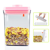 2300ml easy open and lock airtight plastic food storage boxes with hinged lids