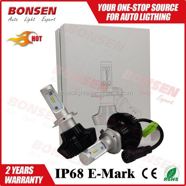 Wholesale car accessories shops H/L beam G7 H4 H7 H11 9007 auto led headlight bulb 25w 6500k 24 month warranty