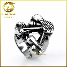 cool unique jewelry for party vintage style men wearing 316l stainless steel ring
