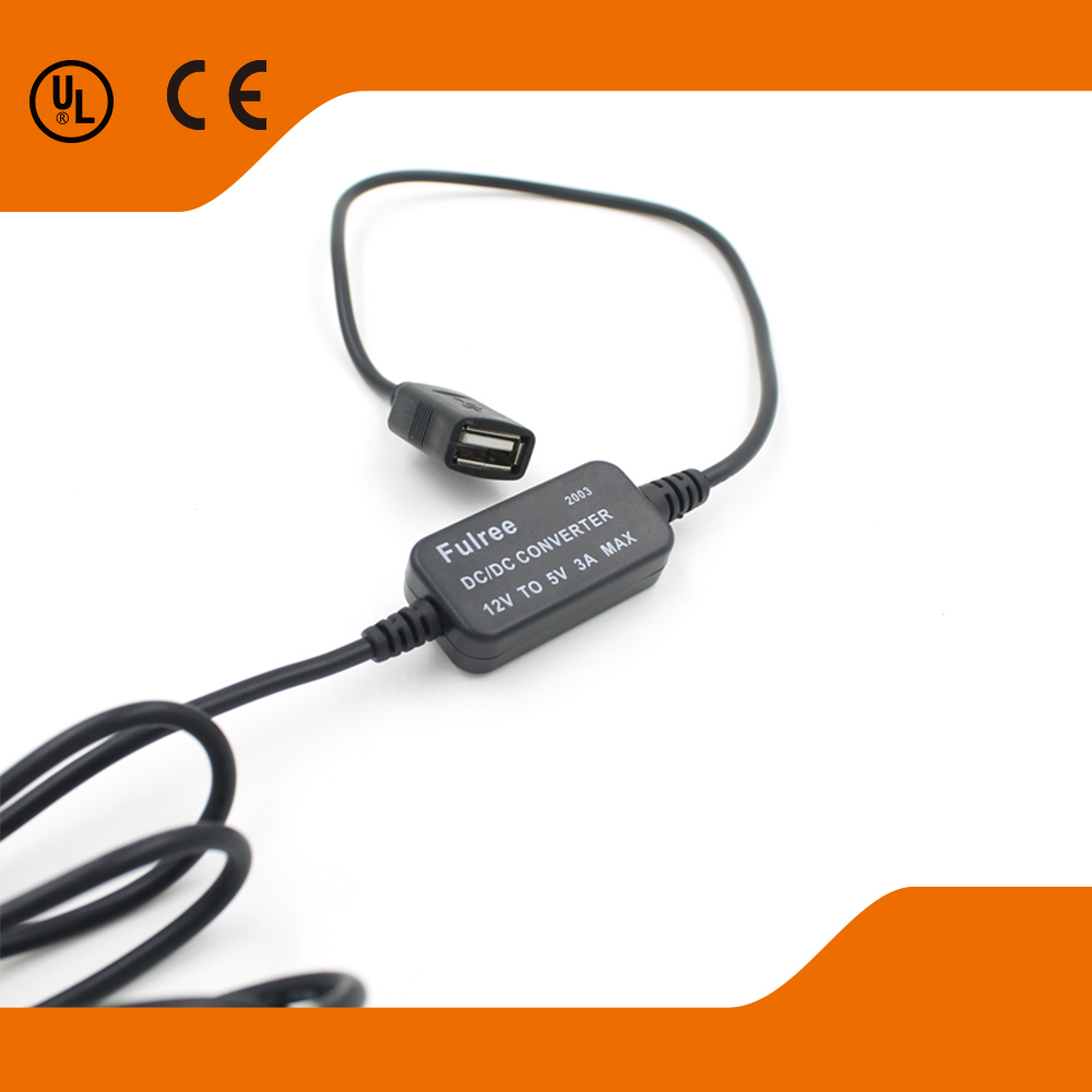 12-24V High Quality Vehicle-mounted DC 12v converter 5v car Voltage Converter Step Down Used For Car/Motorcycle