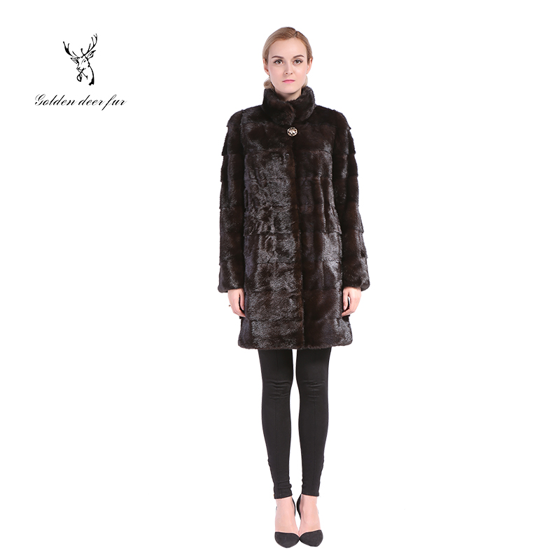 Elegant style winter mink fur coat women