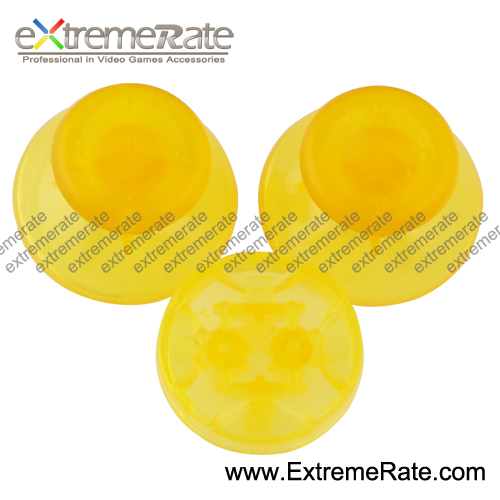 Wholesale Manufacture Clear Yellow Button KitsFor XBOX 360 Controller Buttons Joystick Dpad