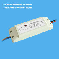 3 years warranty 20w 30w 700ma 1050ma triac dimmable led driver